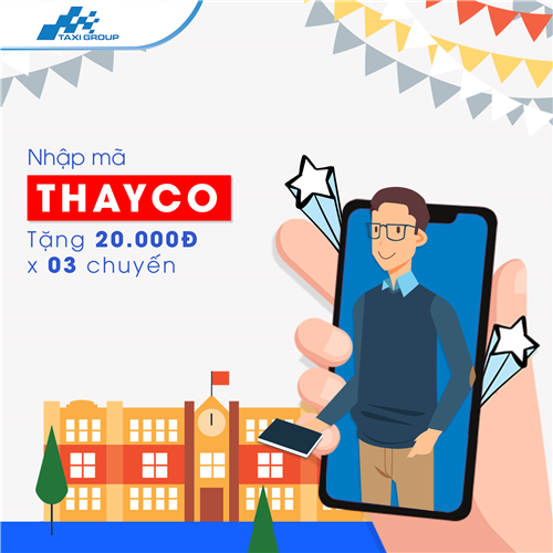 NHẬP MÃ THAYCO, NHẬN NGAY 20.000Đ VỚI 03 CHUYẾN ĐI