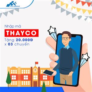 NHẬP MÃ THAYCO, NHẬN NGAY 20.000Đ TỪ TAXI GROUP